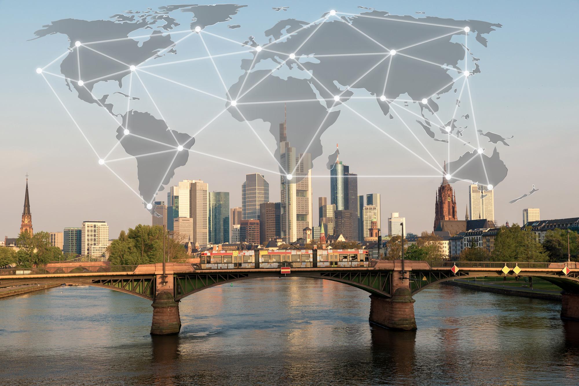 Verbindung der modernen und digitale Welt
